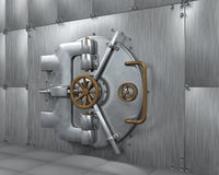 Close Bank Vault Door Stock Photography