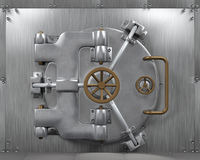 Close Bank Vault Door Royalty Free Stock Image