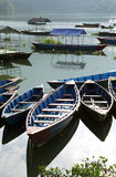 Close of the boats in Phewa Lake Stock Photography