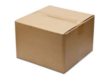 Close brown paper box Royalty Free Stock Photos