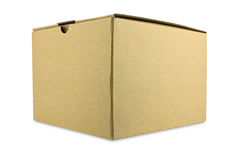 Close brown paper box Stock Image