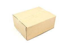 Close brown paper box Stock Photo