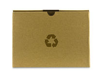 Close brown paper box Royalty Free Stock Images