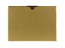 Close brown paper box Royalty Free Stock Photography