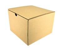 Close brown paper box Stock Photos