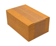 Close brown paper box Stock Image