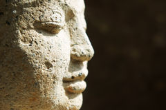 Close of of Buddha face Royalty Free Stock Images
