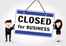Close for business Royalty Free Stock Photo