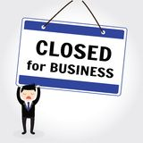 Close for business Stock Image