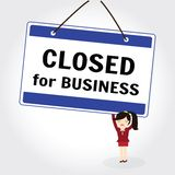 Close for business Stock Photos