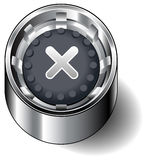 Close Button. An illustration of an close button / icon isolated on white background Stock Photos