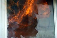 Close call. Flames stock image