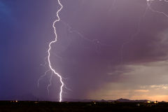 Close Call in Arlington-Arizona Monsoon 2013 Stock Photo