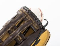 Close catch in baseball Royalty Free Stock Photo