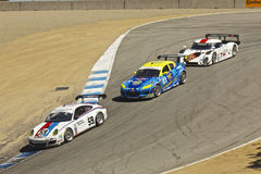 Close chase at Grand AM Rolex Races Stock Images