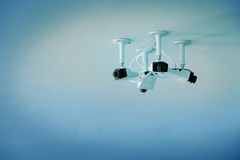 Close circuit camera installed on the ceiling. Royalty Free Stock Photography