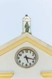 Close on the clock of Catedral Metropolitana Sagrado Coracao de Royalty Free Stock Image