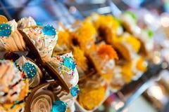 Close colorful pancake Thailand. Stock Photography