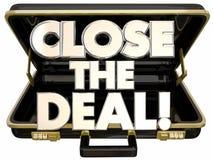 Close the Deal Briefcase Sales Success. Close the Deal Briefcase 3d Words Sales Success Stock Image