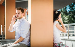 Close and distant - problems in relationship? Royalty Free Stock Photos