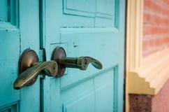 Close door. Close up close vintage door for security Stock Photography