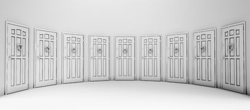 The close Doors Royalty Free Stock Image