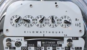 close electric meter up Στοκ εικόνα με δικαίωμα ελεύθερης χρήσης