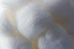 Close för textur för bomullsboll upp Arkivbilder
