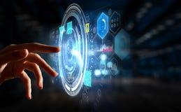 Creating innovative technologies. Mixed media Royalty Free Stock Image
