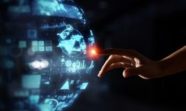 Creating innovative technologies. Mixed media Stock Photos