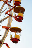 Close ferris wheel. At dusk in autumn Stock Image
