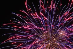 Close fireworks picture stock images