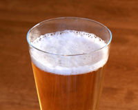 Close focus on a head of beer Stock Photography