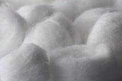 Close för textur för bomullsboll upp Royaltyfria Bilder