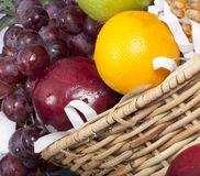 Close fresh fruit baskets Royalty Free Stock Photos