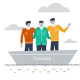 Close friends together Royalty Free Stock Image