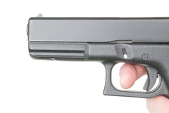 Close front view of handgun Stock Image