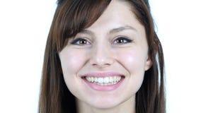 close girl smiling up young Στοκ φωτογραφία με δικαίωμα ελεύθερης χρήσης