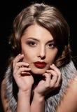 Close glamorous woman Stock Photo