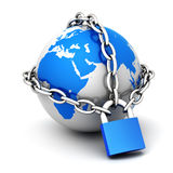 Close globe Stock Image