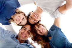 Close group of friends Stock Photography