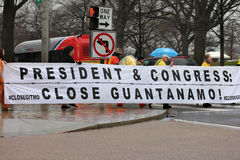 Close Guantanamo demonstrations Stock Photography