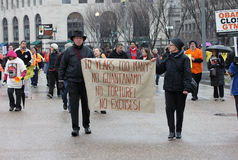 Close Guantanamo demonstrations Royalty Free Stock Photography