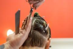 Close Haircut royalty free stock photo