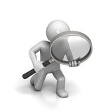 Close Inspection with Magnifying Glass Royalty Free Stock Photo