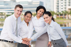 Close-knit business team Stock Photos
