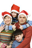Close-knit family before Christmas Stock Photography