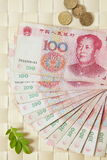 A close look at chinese money Stock Photography