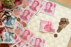 A close look at chinese money Royalty Free Stock Photography
