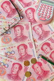 A close look at chinese money Stock Photo
